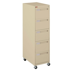 "Spectrum Five Drawer Mobile Vertical Legal File - 28.25""D, 34034"