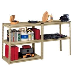 "Convertible Shelving Unit Work Bench - 36.5""W x 12.5""D x 72""H, 36433"