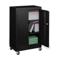 "Mobile Three Shelf Storage Cabinet - 48.75""H, 36445"