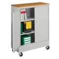 "Mobile Storage Cabinet with Wood Top - 48.75""H, 36447"