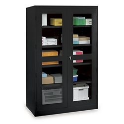 "Glass Door Storage Cabinet - 24""D x 78""H, 36706"