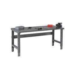 """Adjustable Height Steel Top Workbench - 72"""" x 36"""", 41555"""
