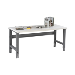 "Adjustable Height Laminate Top Workbench - 72"" x 30"", 91762"