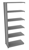 "Shelving Add-On Unit - 36""W x 18""D x 88""H , 37085"