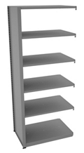 "Shelving Add-On Unit - 36""W x 24""D x 88""H , 37087"