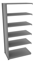 "Shelving Add-On Unit - 42""W x 24""D x 88""H , 37091"