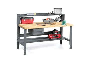 """Workbench with Riser and Storage - 36"""" x 72"""", 92172"""
