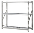 "Tread Plate Welded Three Shelf Rack 77"" W x 24"" D x 72"" H, 37040"