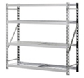 "Tread Plate Welded Four Shelf Rack 77"" W x 24"" D x 72"" H, 37041"