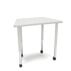 "Standard Height Mobile Trapezoid Table - 32.5""W, 46906"