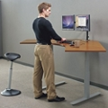"Tabella Adjustable Height Corner Desk -  60""W, 10278"