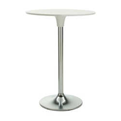 "Clear Glass Top Cafe Height Table - 24"" Diameter, 86240"