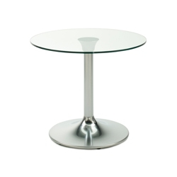 "Clear Glass Top Table - 24"" Diameter, 41781"