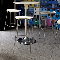 Café Table and Three Bar Stools Set, 44297