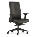 High Back Bonded Leather Office Chair with Adjustable Arms, 56788