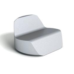 Modern Round Mini Foam Lounge Chair, 76080