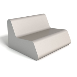 Modern Square Foam Lounging Loveseat , 76084