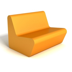 Modern Square Foam Loveseat, 76085