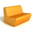 Modern Square Foam Loveseat, 76085