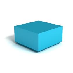 Modern Square Corner Square Foam Ottoman, 76151