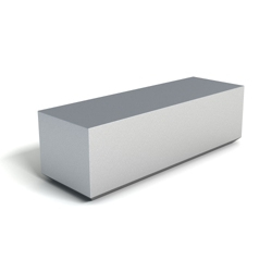 Modern Square Corner Foam Bench, 76153