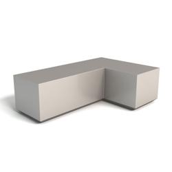 Modern Square Corner Left Handed Foam L Bench, 76154