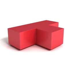 Modern Square Corner Foam T Bench, 76156