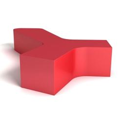 Modern Shape Four Foam Bench, 76164