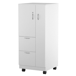 "55""H Right Handed Mobile Wardrobe and File Cabinet, 87838"
