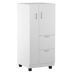 "55""H Left Handed Mobile Wardrobe and File Cabinet, 87839"