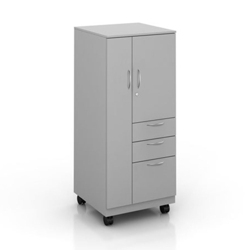 "55""H Right Handed Mobile Wardrobe and Storage Cabinet, 87840"