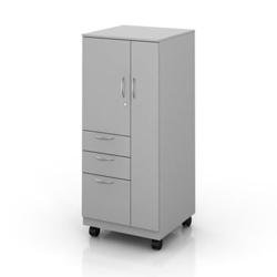 "55""H Left Handed Mobile Wardrobe and Storage Cabinet, 87841"