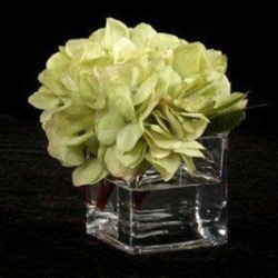 """Set of Six Hydrangeas in Vases - 6""""H, 87703"""