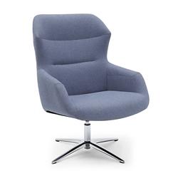 Skoop High Back Swivel Lounge Chair, 55641
