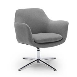 Skoop Low Back Swivel Lounge Chair, 55642