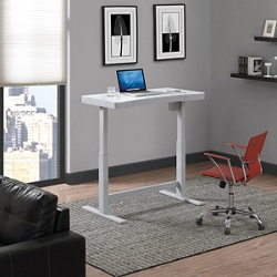 "Adjustable Desk with Glass Top - 47""W x 25""D, 16196"