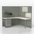 Corben Corner Desk with P Legs, 14980