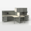 Corben Two Desk Pack with P Legs, 14981