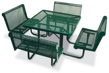 "Square Perforated Outdoor Table - 46"", 86299"