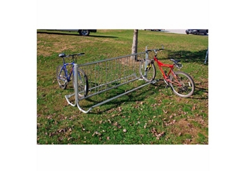 Modern 8 ft Portable Double Sided Bike Rack, 85841