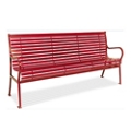 Horizontal Slat Bench with Back - 6 ft, 82152