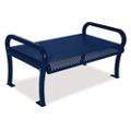 Plastic Coated Outdoor Backless Perforated Bench - 4'W, 82300