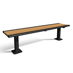 In-Ground Mounted Recycled Lumber Bench - 6ft, 82430