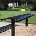 In-Ground Mounted Steel Bench - 6ft, 82434