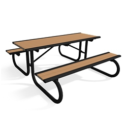 Portable Recycled Lumber Picnic Table and Benches - 6ft, 82444
