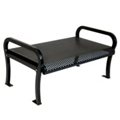 6' Plastic Coated Outdoor Perforated Bench, 85136