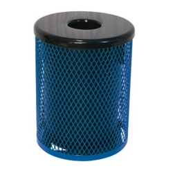 32 Gallon Waste Receptacle with Diamond Pattern, 85141