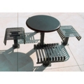 "Outdoor Breakroom with 4 Seats and 36"" Round Table - Surface Mounted, 85143"