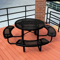 Portable Round Perforated Picnic Table, 85804