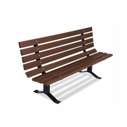 Recycled Plastic Outdoor Bench - 6 ft, 85808
